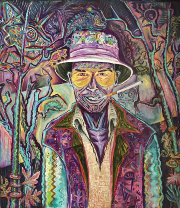 SOLD - Fear and Loathing - Oil and acrylic on canvas (88 x 100 cm)