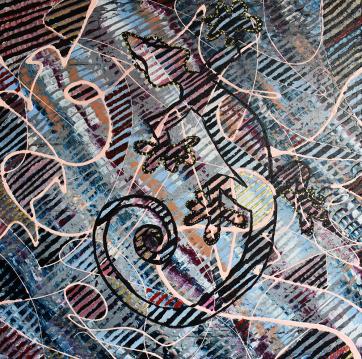 the Hunt - Acrylic on canvas (50 x 50 cm)