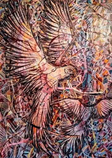 SOLD - The Art of Flight - Acrylic on canvas (100 x 150 cm)
