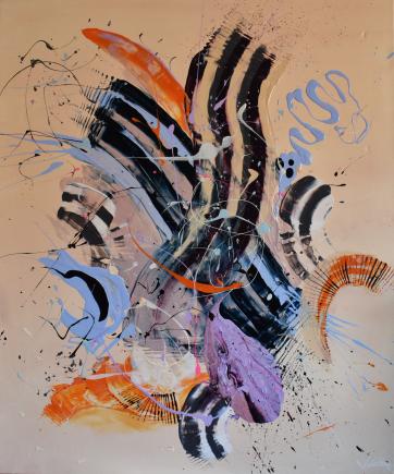 Vibrations - Acrylic on canvas (100 x 120 cm)