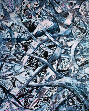 Consiousness - Acrylic on canvas (80 x 100 cm)