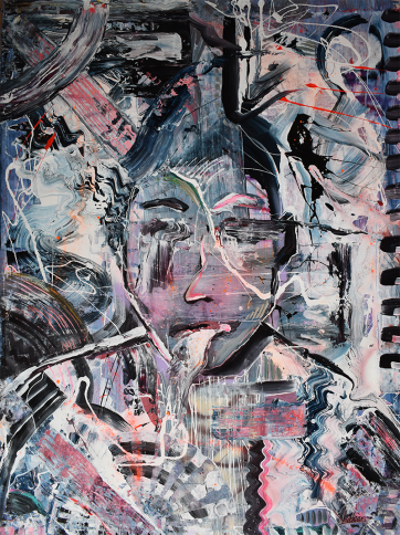 Mr Unknown - Acrylic on canvas (80 x 110 cm)