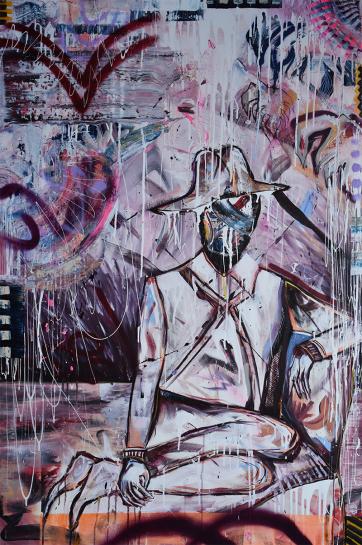 Nomandsland (100 x 150 cm) - Acrylic and spray paint on canvas